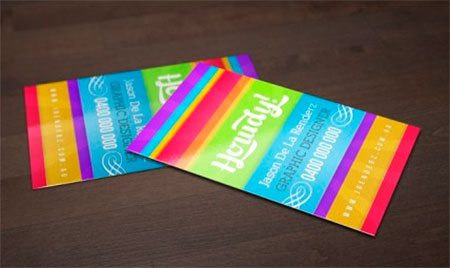 Bright and Colorful Business card