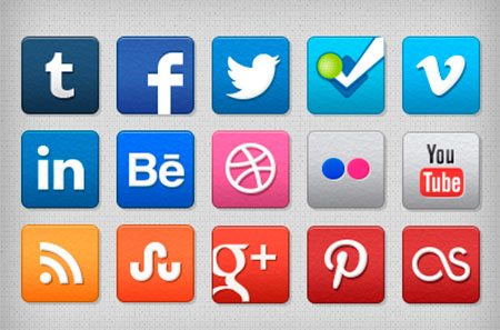Stucco Social Media Icons by Brad Siefert