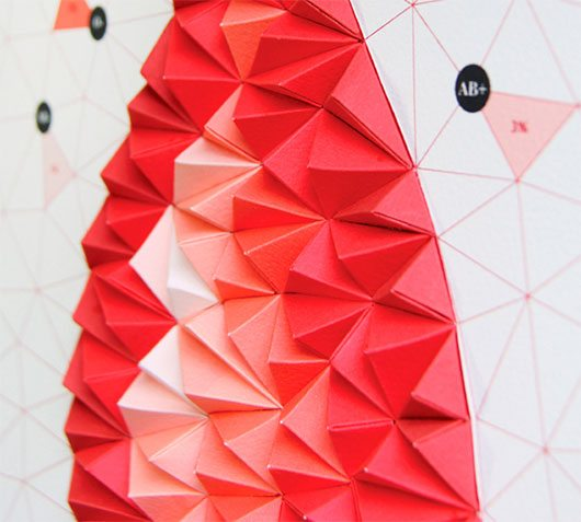 Pattern Matters: Tangible Paper Infographic by Siang Ching