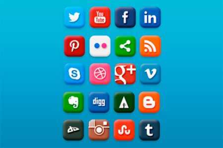 Social Media icon Set by Ali O. İş