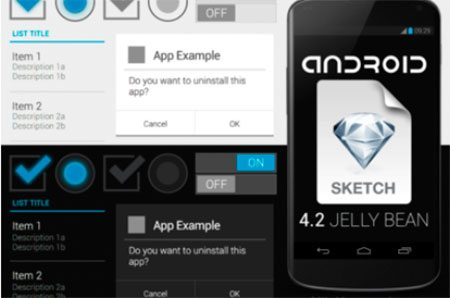 Android 4.2 for Sketch.app by Nils Keesmekers