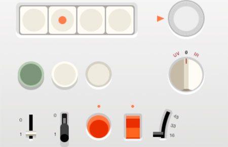 Flat Braun UI (.psd) by Adrien Olczak