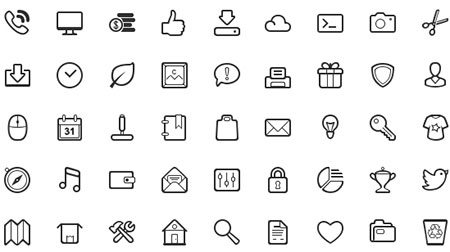 50 Simple and Neat Vector Icons