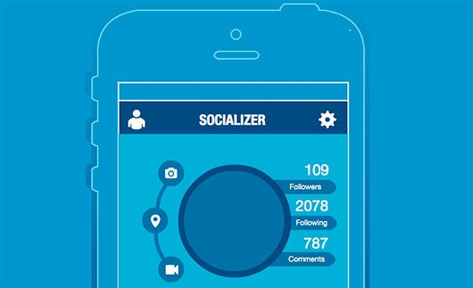 iPhone app wireframe by Liam Wolf