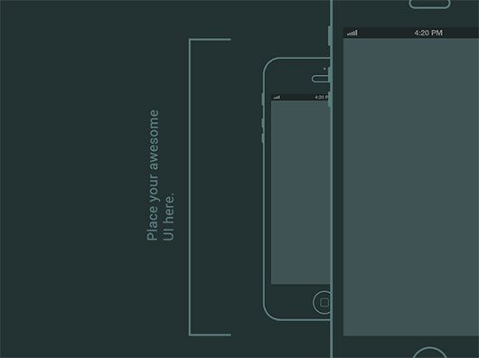 Iphone Wireframe by Ashton Snook
