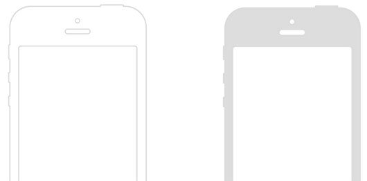 Simple Mobile Wireframe by Matthew Sanders