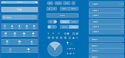 iOS UI components wire frame by pypple