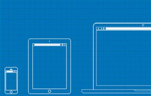 Web / UX Design Wireframe Template PSD by Irfan Mi