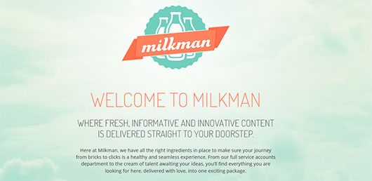 Welcome to milkman