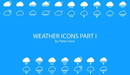 Weather Icons Part I by Pieter Goris