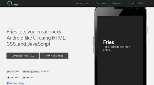 Fries - Create Android-like UI