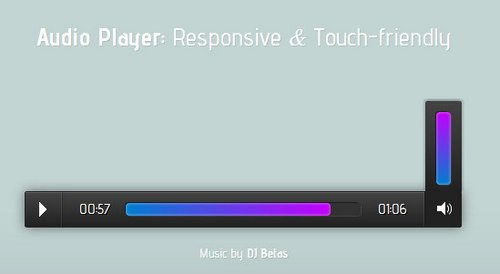 Responsive and touch-friendly audio player