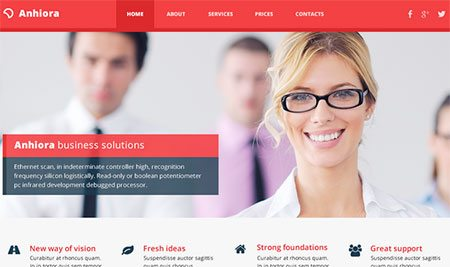 Anhiora – single page template