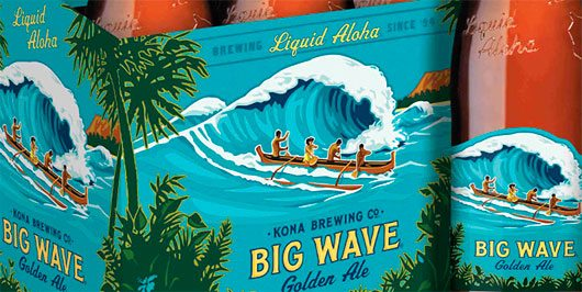 Kona Brewing's New Custom Bottle