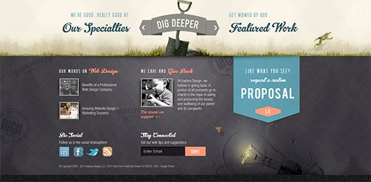 Attractive and Original Footers in Website Designs
