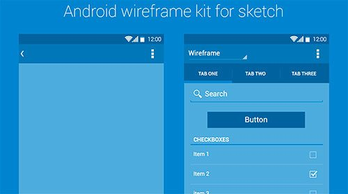 Android Wireframe Kit by Rodrigo Soares