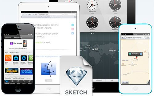 iOS Devices for Sketch.app by Robbie Pearce