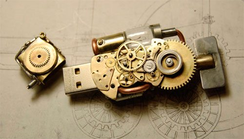 Steampunk USB Flash drive 8Gb