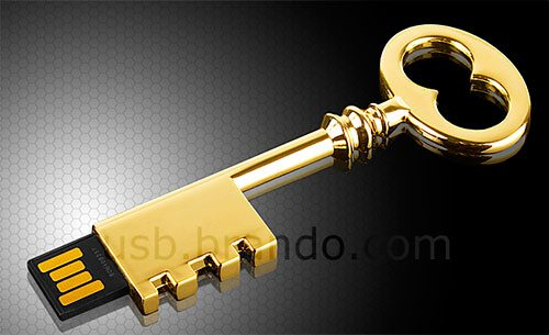 USB Metallic Key Flash Drive
