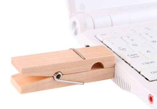 Clothespin USB Drive