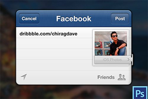 Facebook iPhone Sharing UI by chirag dave - uijunction