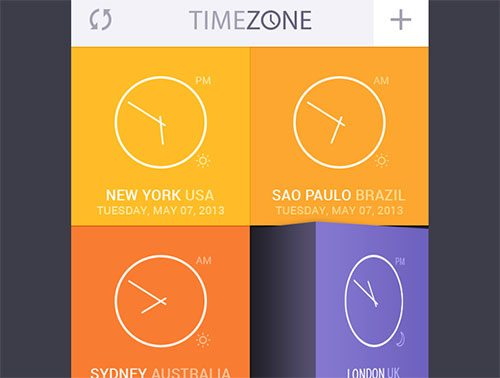 Time Zone App UI