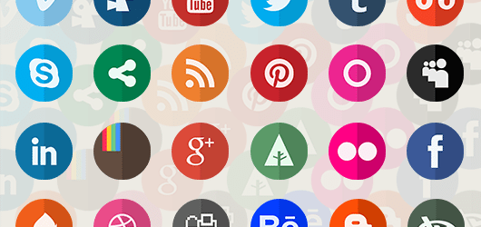 Circle Flat Icons Retina-ready preview