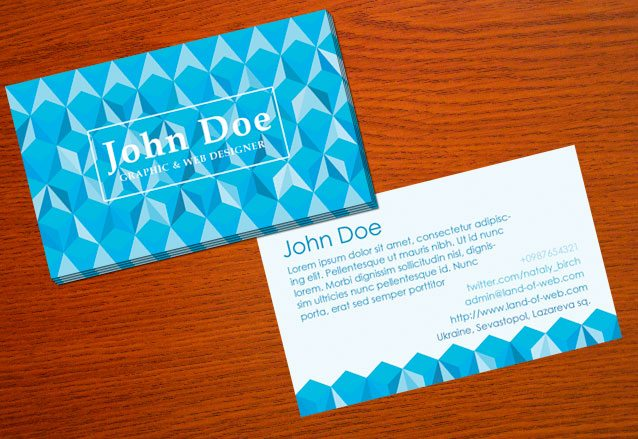 Freebie: Polygonal Business Card PSD Template