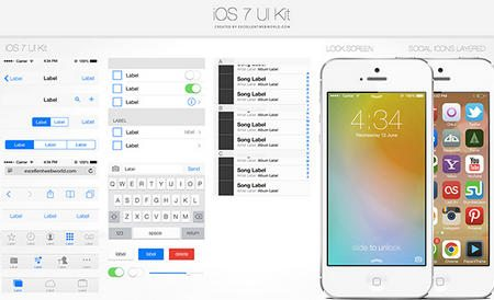 iOS7 UI Kit PSD by Satish Patel