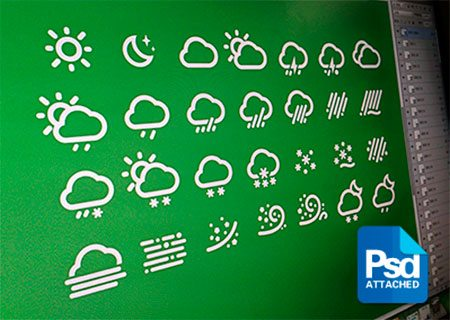 Weather Icons PSD by 霹雳贝贝