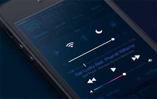 iOS7 - Dark Theme by Huig van der Waal