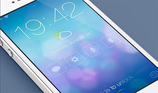 iOS7 Redesign - Lock screen (@2x) by Mariusz