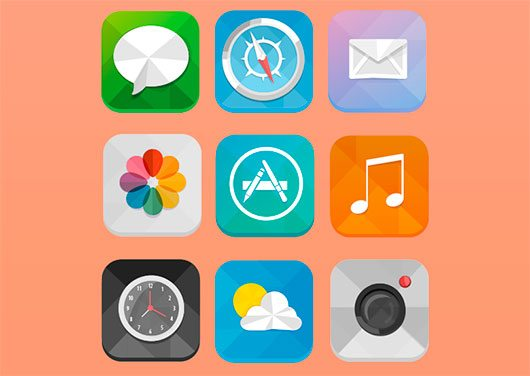 Low Poly iOS 7 Icons by Bushra Mahmood