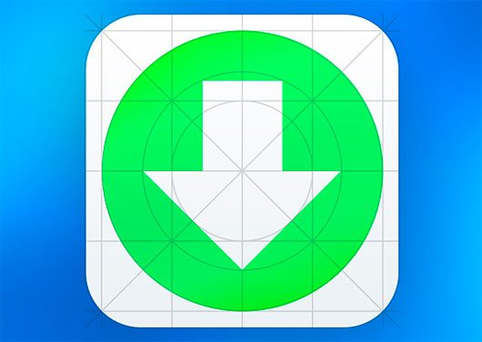Download iOS7 Grid system Icon Template by Simon Grozyan
