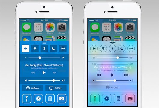 iOS 7 Control Center Redesign by Ilya Dmitruk