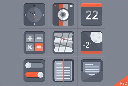 Flat Icon Set by Barry Mccalvey