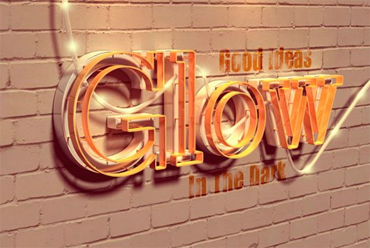 Create a Glowing 3D Text