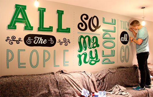 Holiday Inn mural by Tobias Hall