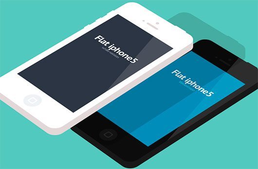 Flat iphone5 by Muhammad Farhan
