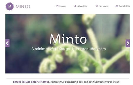 Minto – A Free Minimal Website Design