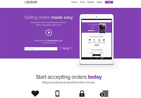 Ascend – E-Commerce Service Template