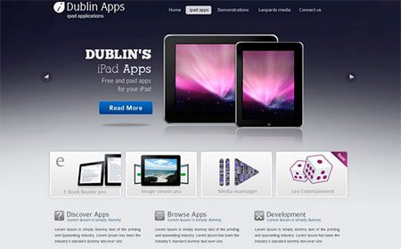 Dublin iPad & iPhone Apps – Web Template