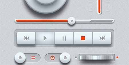 Light Music UI Design Kit