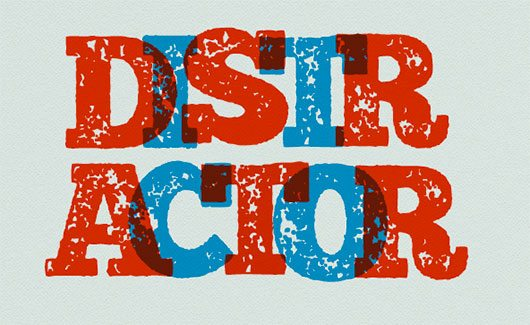 Distractor typeface by simon stratford