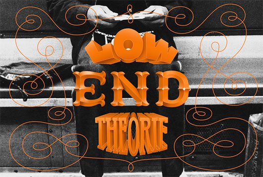 Low End Theorie Lettering by Sascha Timplan