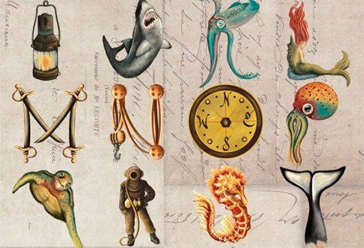 Nautical Alphabet by Gigi Lopez