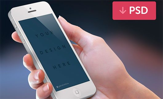 iPhone Mockup PSD White by Joe Mortell