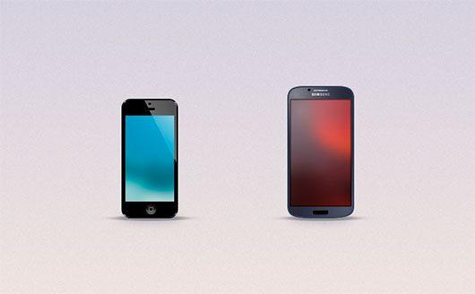 Mini iPhone and Galaxy S4 Freebie by Blake Reary