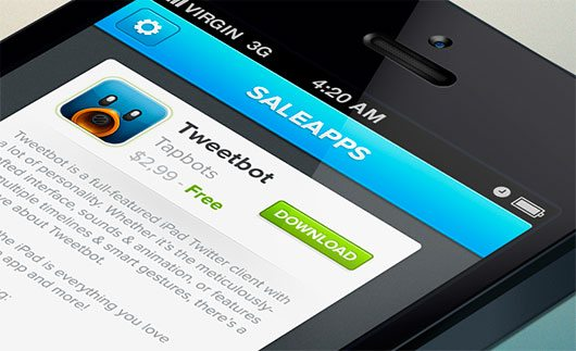 Saleapps | Free iOS UI PSD | by Jose