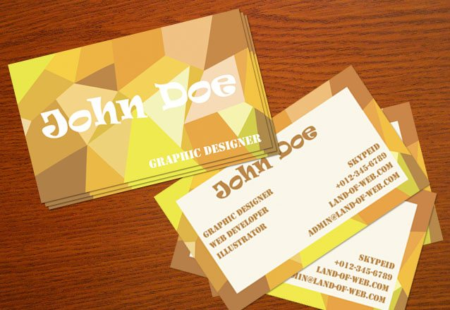 Freebie: Positive Poly-Inspired Business Card PSD Template